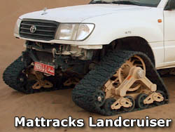 Toyota Landcruiser with Mattracks Tank Tracks