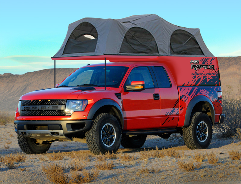 Although one day I would like to get a second Raptor - but a full size crew cab - and experiment with making it a single-cab with a full on c&er box ... & Custom rack design for a roof tent u0026 awning on a Raptor... - Page ...